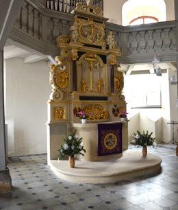 Herstellen und Verlegen der Altarstufen, Schloßkirche Dresden Lockwitz