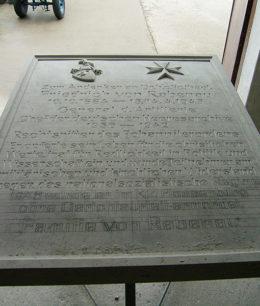 Schrifttafel - Friedrich von Rabenau, Kirche Rabenau